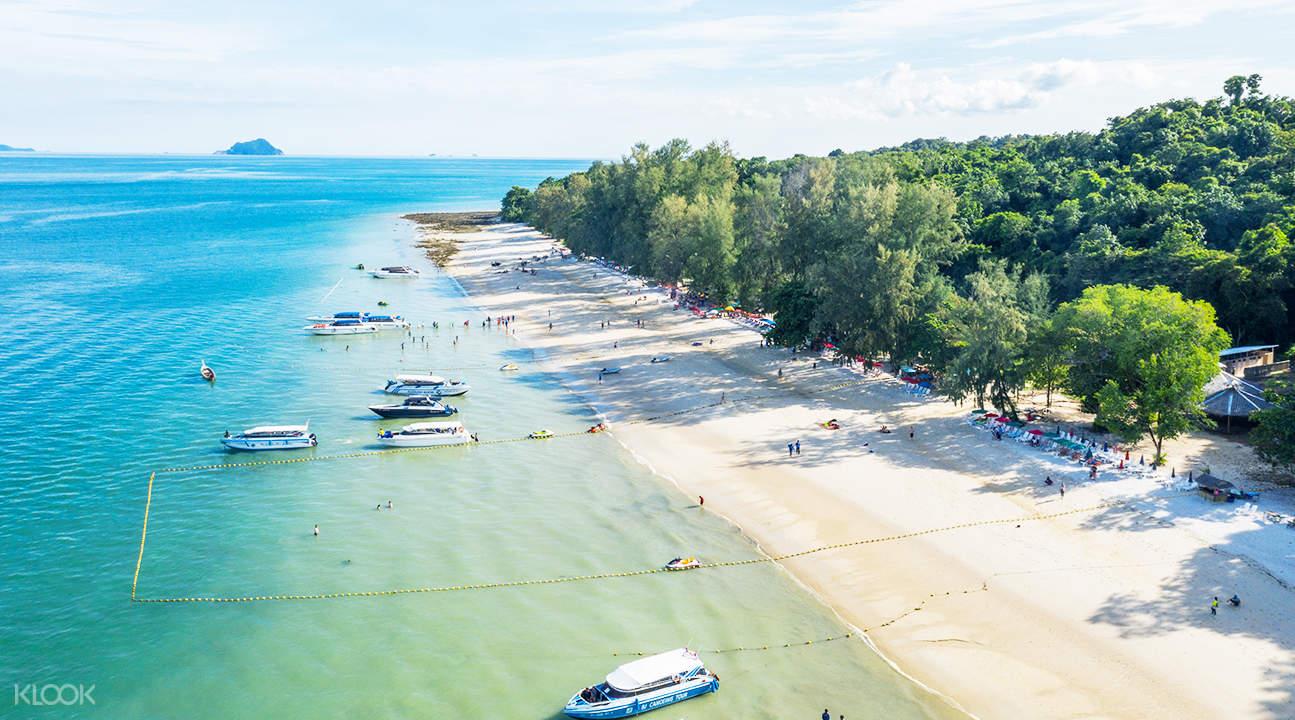 beach view of naka noi island